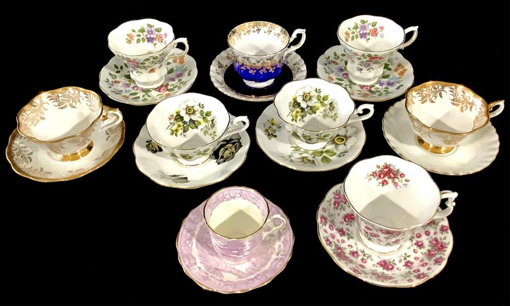 Vintage Cups & Saucers Collection, Royal Albert
