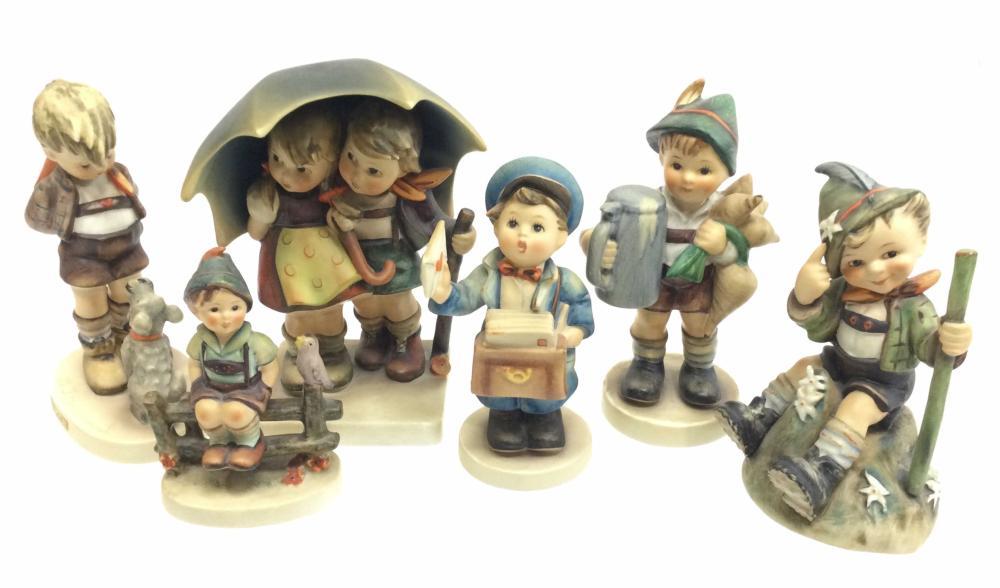 (6) Goebel Hummel Figures