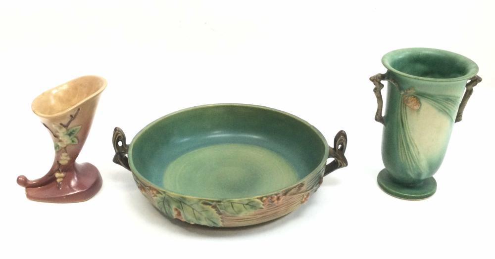 (3pc) Roseville Pottery Vases
