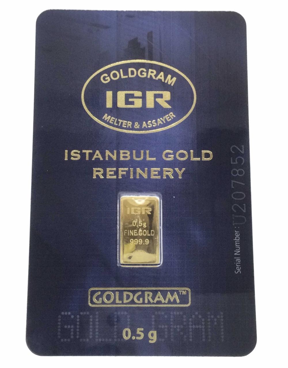 0.5g 999.9 Goldgram Istanbul Gold Refinery Ingot