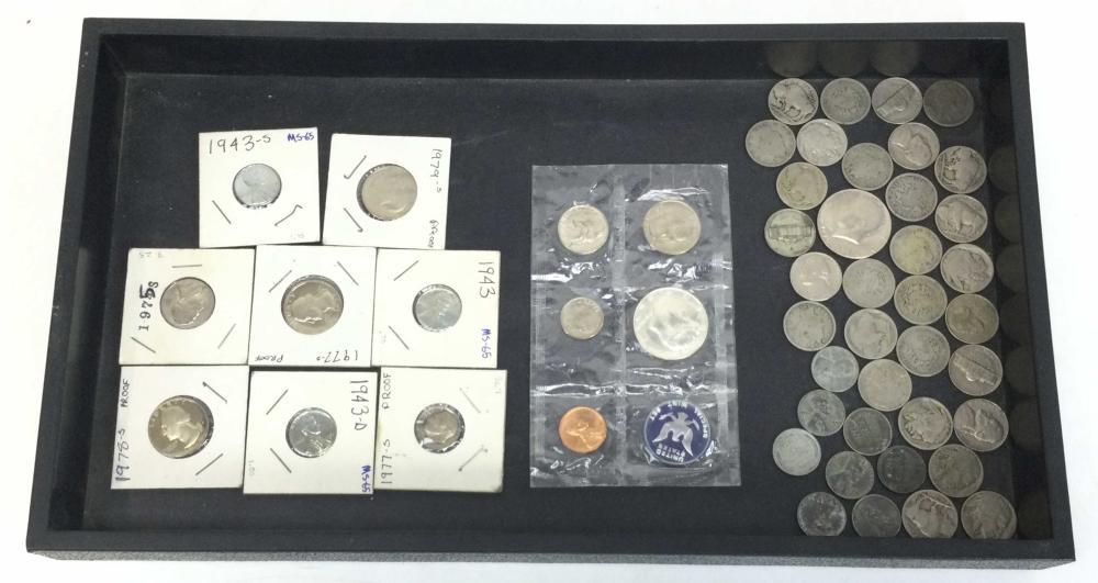 1940's-1980's Mint Coins, Steel Pennies, Proof Set