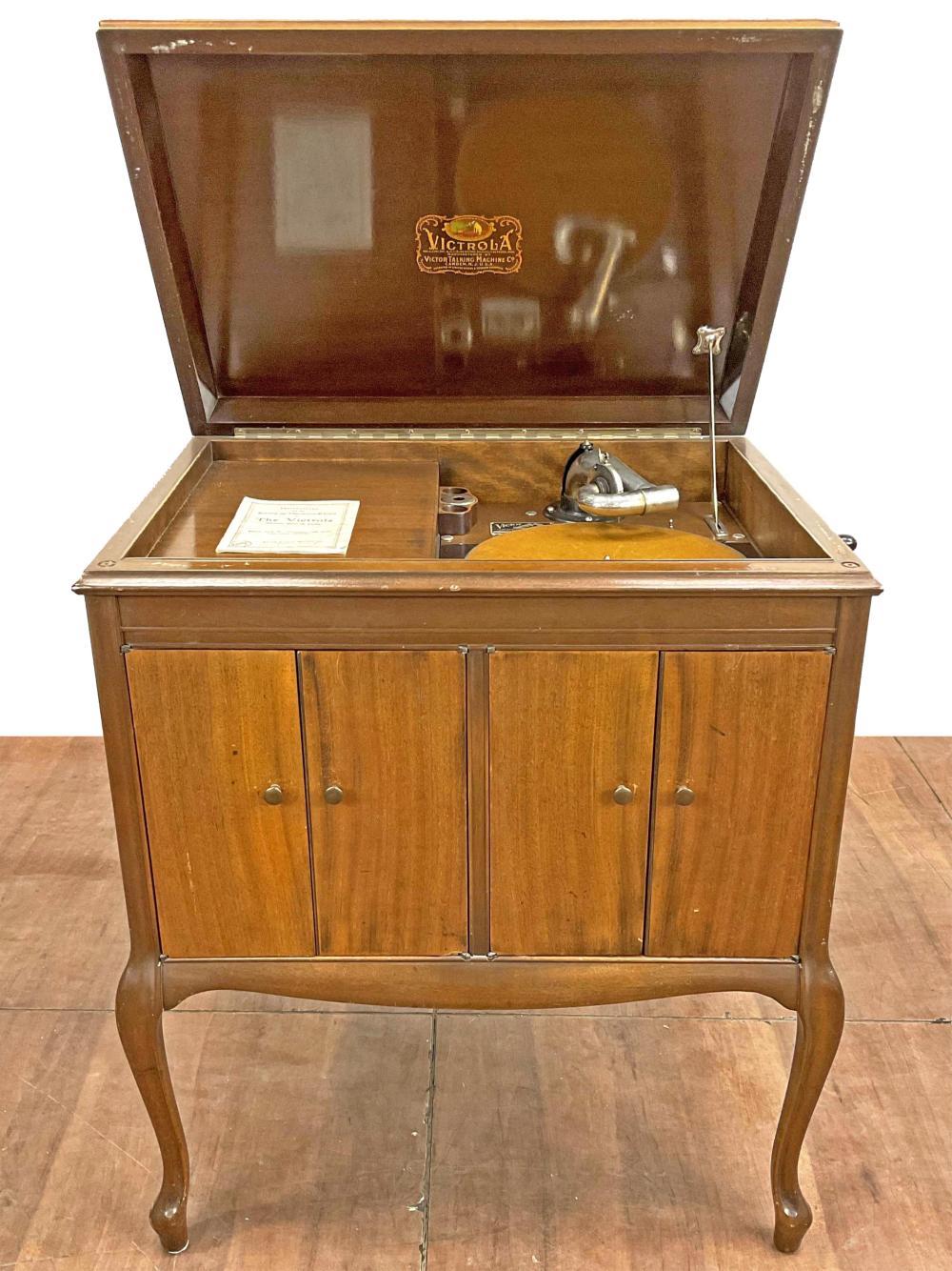 Vintage Victrola Victor Cabinet Phonograph