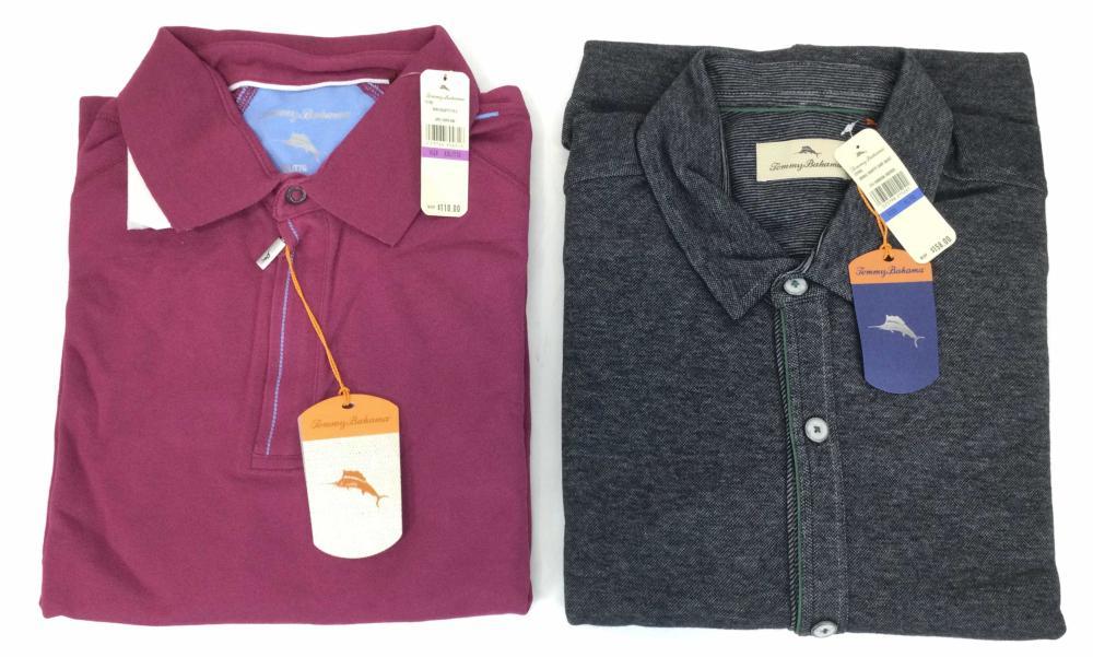 (2) New Tommy Bahama Polo & Shirt Jacket