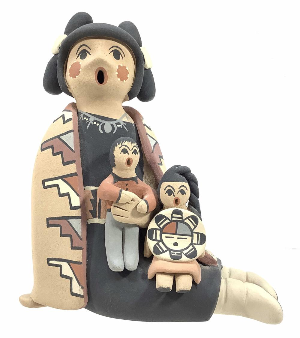 Linda Fragua Jamez Pueblo Storyteller Sculpture