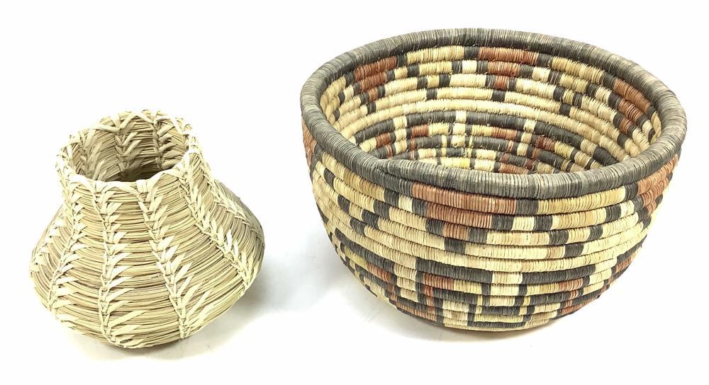 (2) Baskets, Papago Indian Basket