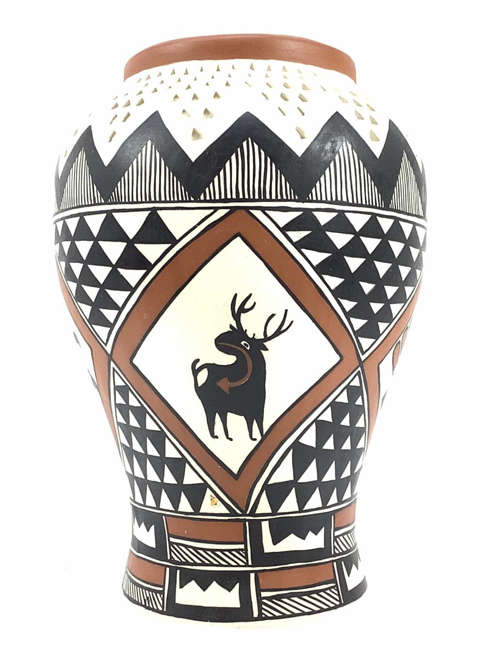Marie Miller Signed Acoma Pottery Vase