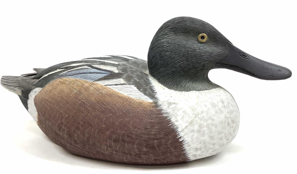 Randy Tull Signed Wood Carved Duck Decoy