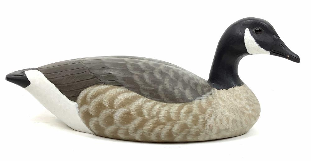 Randy Tull Signed Carved Canadian Goose Decoy