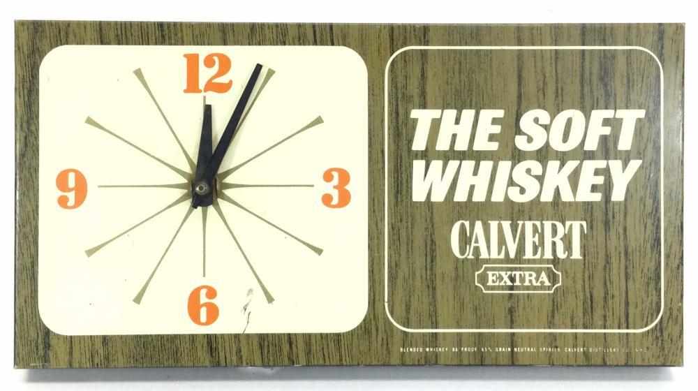 "Vintage Calvert ""The Soft Whiskey"" Clock"