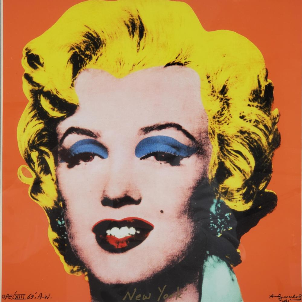 Andy Warhol Lithograph Signed In Plate