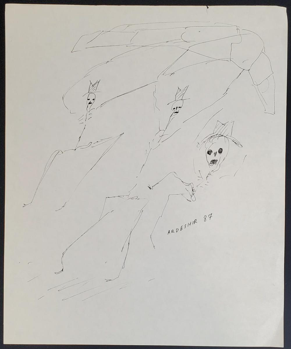Ardeshir Mohassess (1938-2008) Ink On Paper