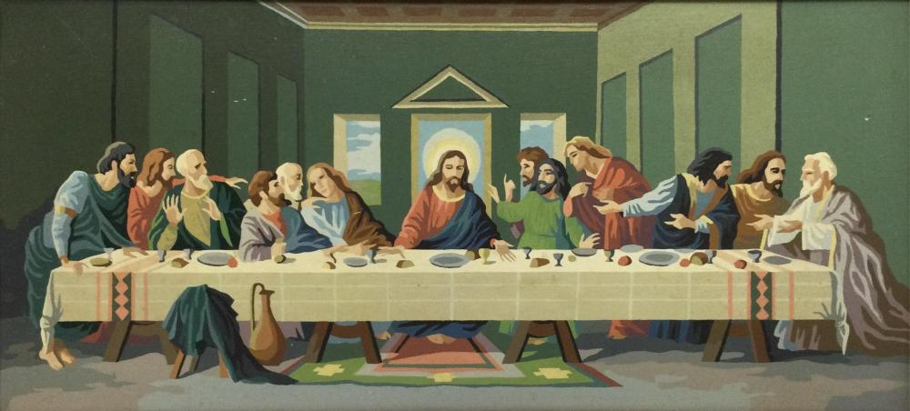 """1960's Paint By Number """"The Last Supper"""" Painting"""