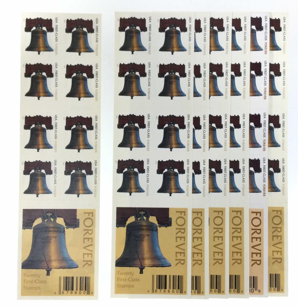 (7) Booklets Of USPS Forever Liberty Bell Stamps