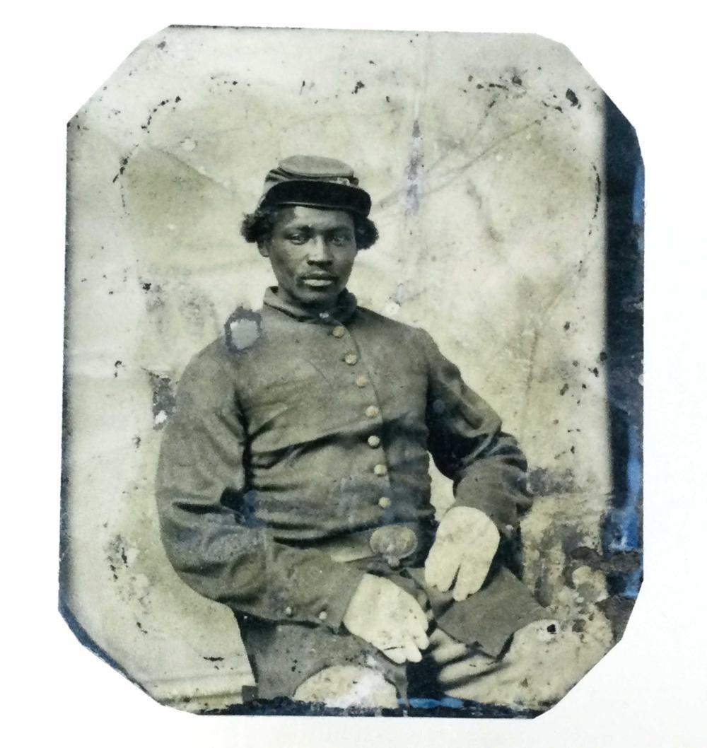 Civil War Era African American Soldier Tin Type