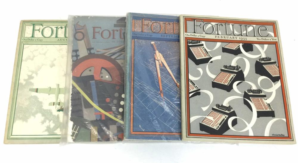 (4) Vintage Fortune Magazines