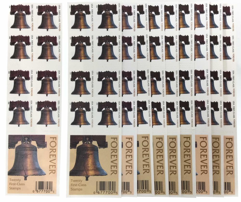 (10) Booklets Of USPS Forever Liberty Bell Stamps