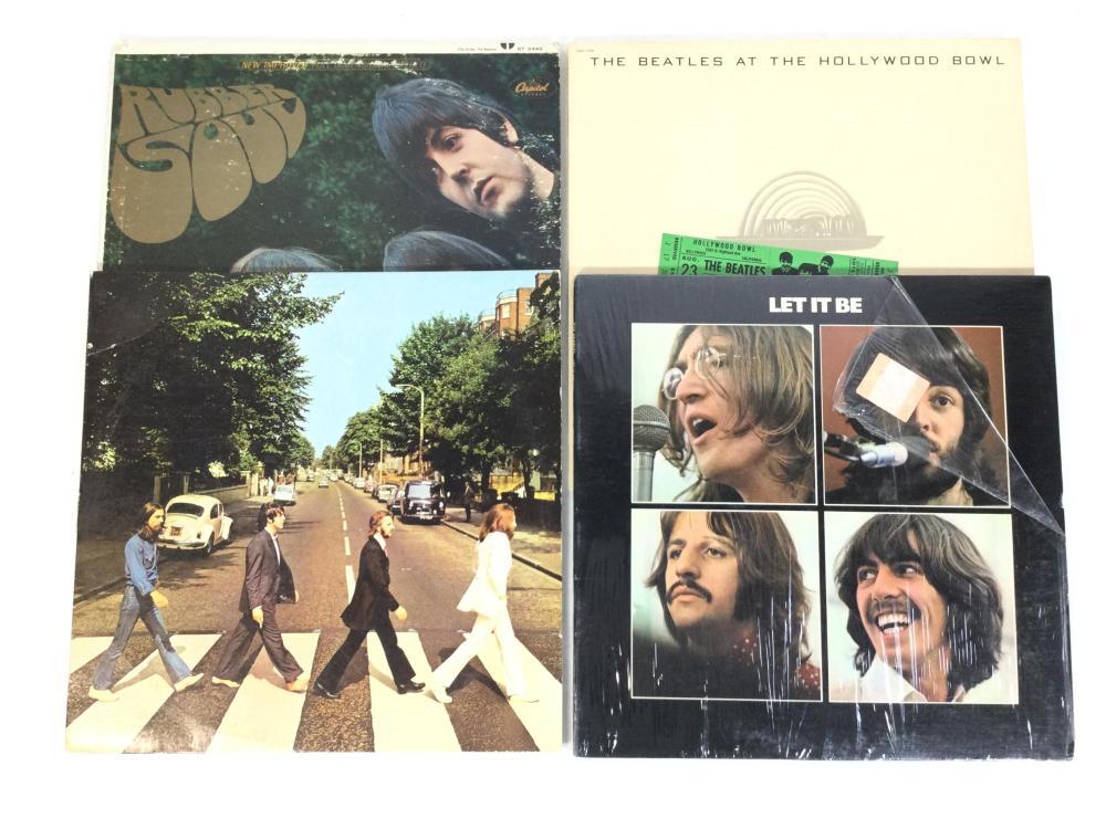 (4pc) Vintage Beatles Records
