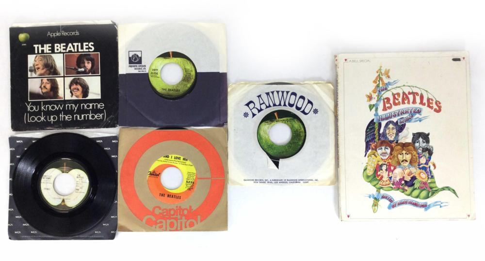 1960's Beatles 45 Records, Illustrated Book