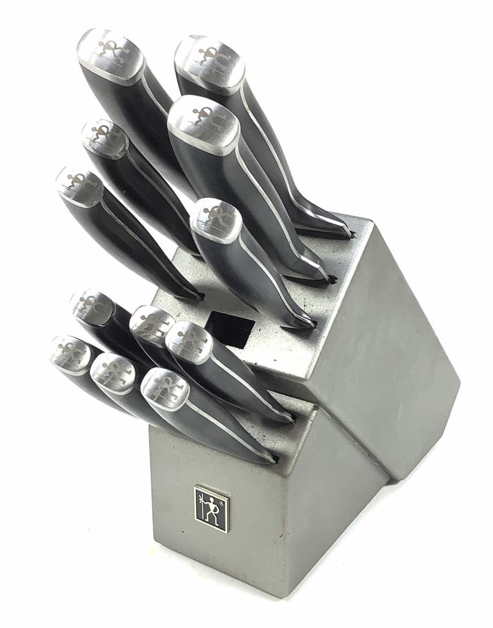 Henckels Stainless Steel Knife Set & Knife Block