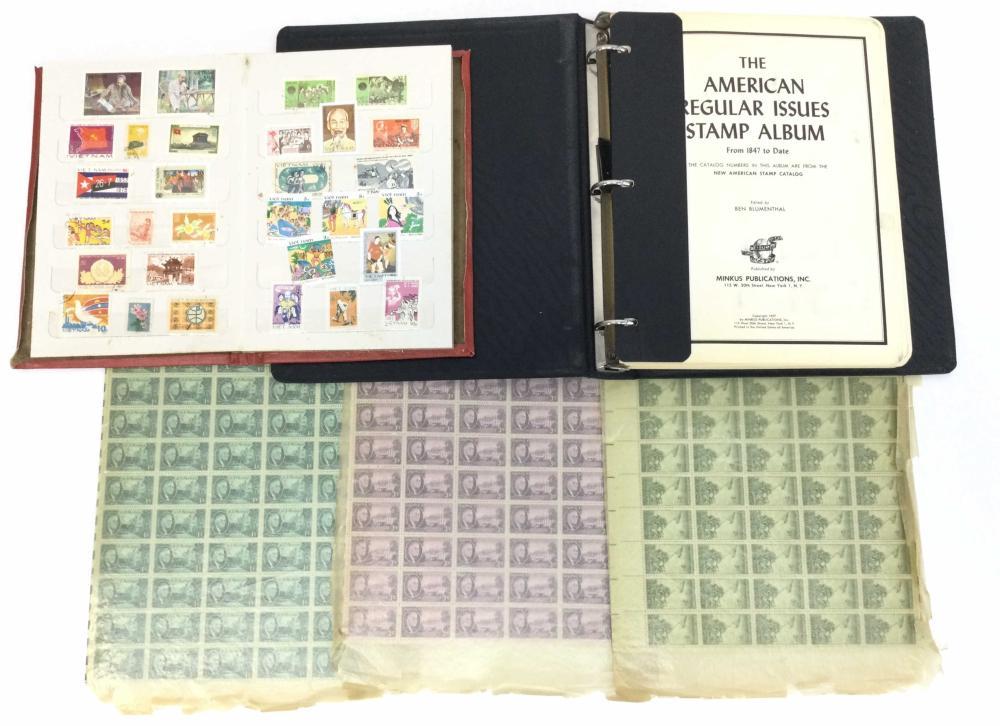 Vintage U.S. & Vietnam Stamps, Stamp Sheets