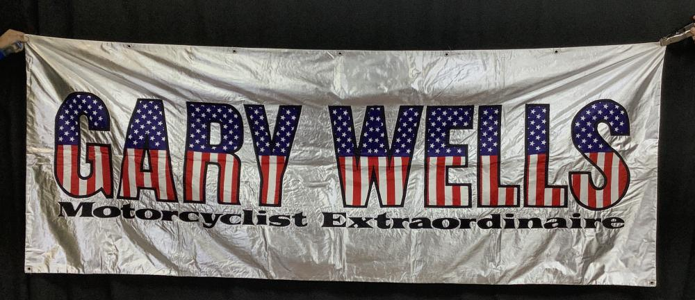Gary Wells' Motorcycle Banner W/ 8x10 Color Photo