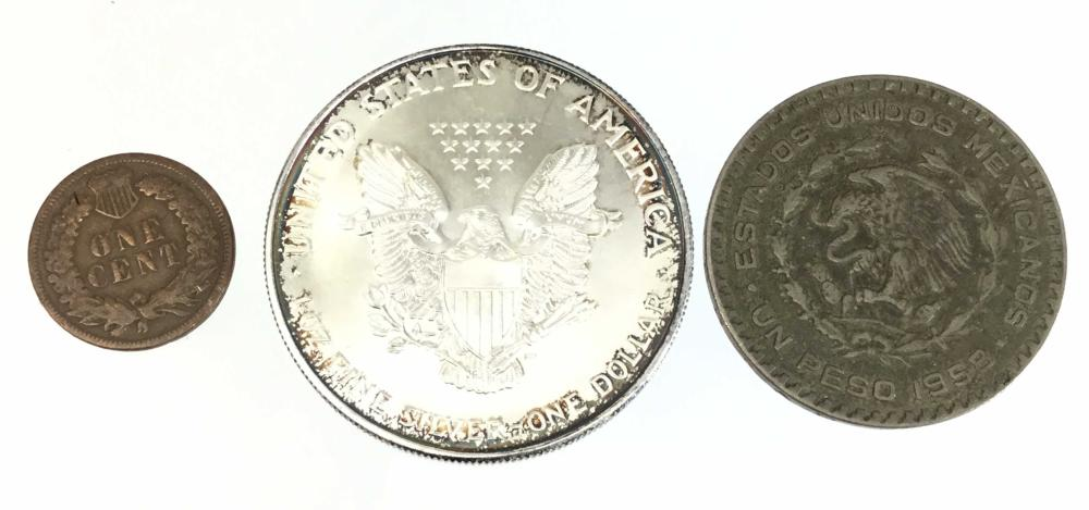 Silver Commemorative Half Dollar Coin, 1958 1 Peso