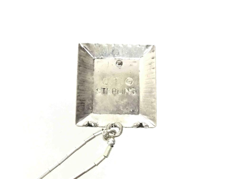 (12) Q. T. Signed Liquid Sterling & Onyx Necklaces