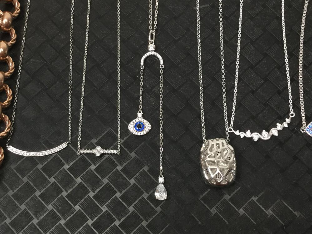 Sterling & Silver Necklaces, Earrings, Pendants