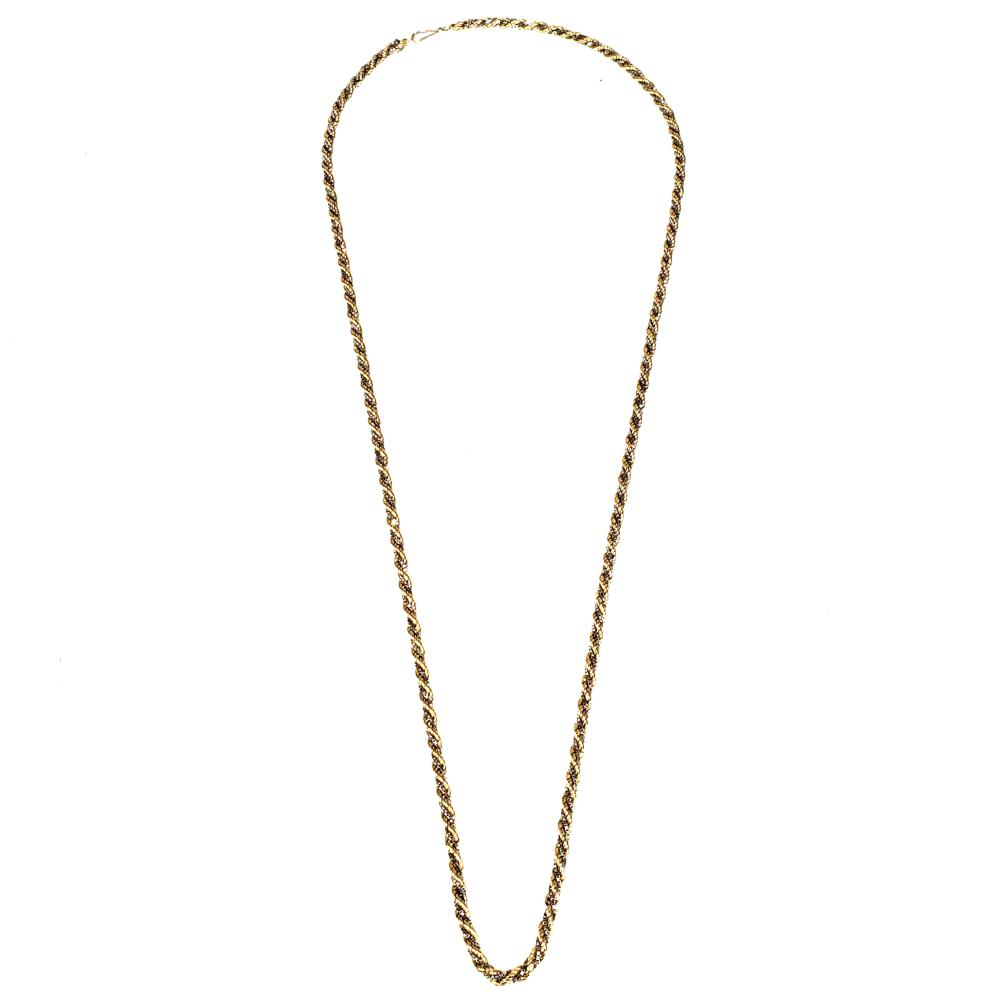 14K Yellow & White Gold Chain Necklace
