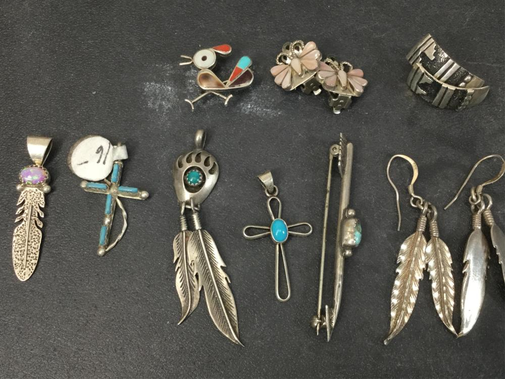 (20) Sterling Silver & Mineral Earrings & Pendants