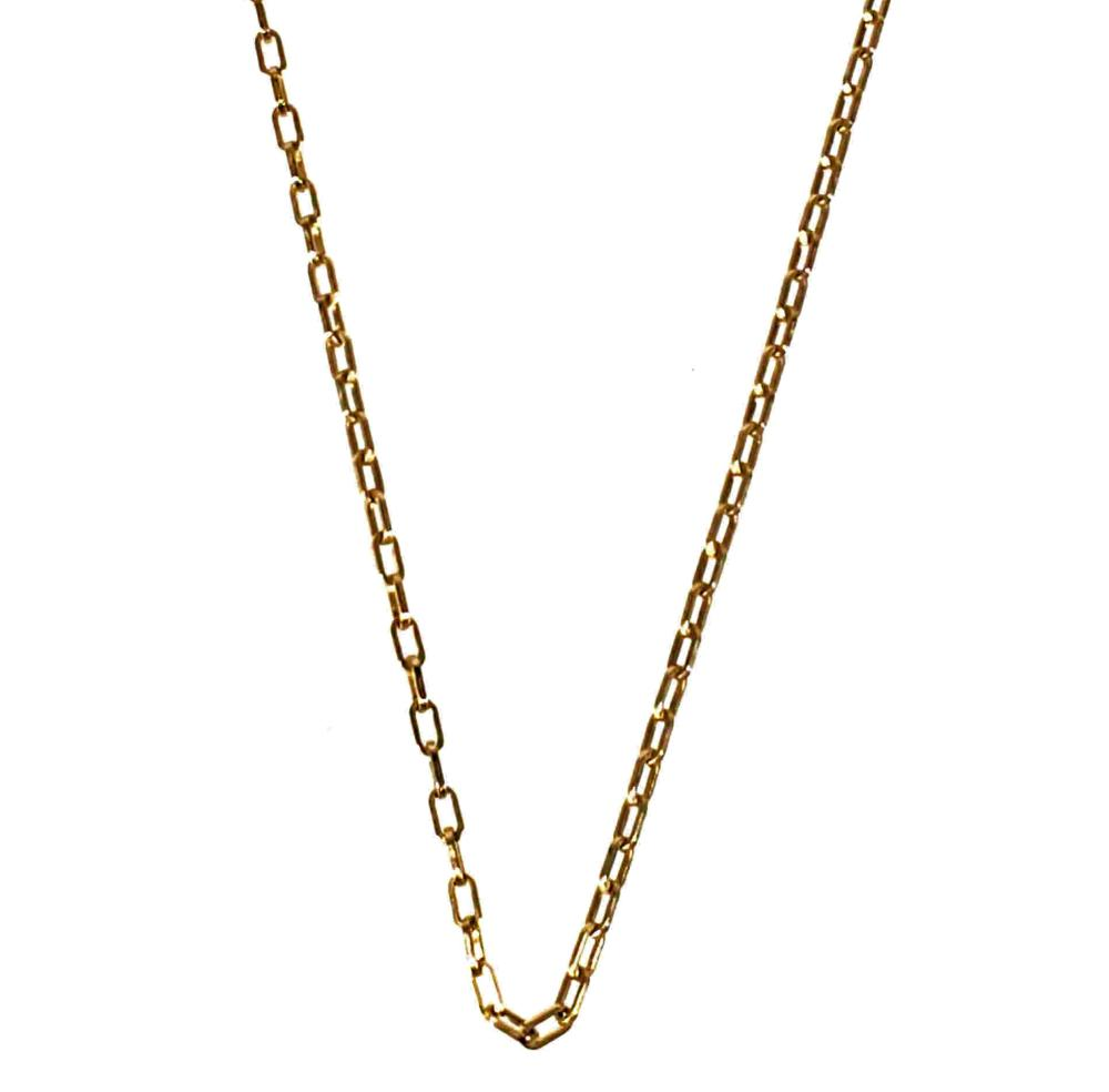 14K Gold Gauge Chain Necklace