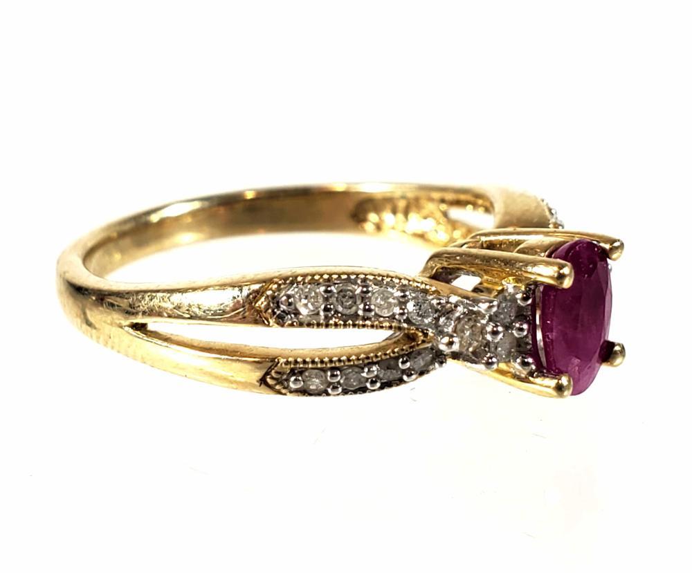 9K & 10K Gold Rings, Size (7)
