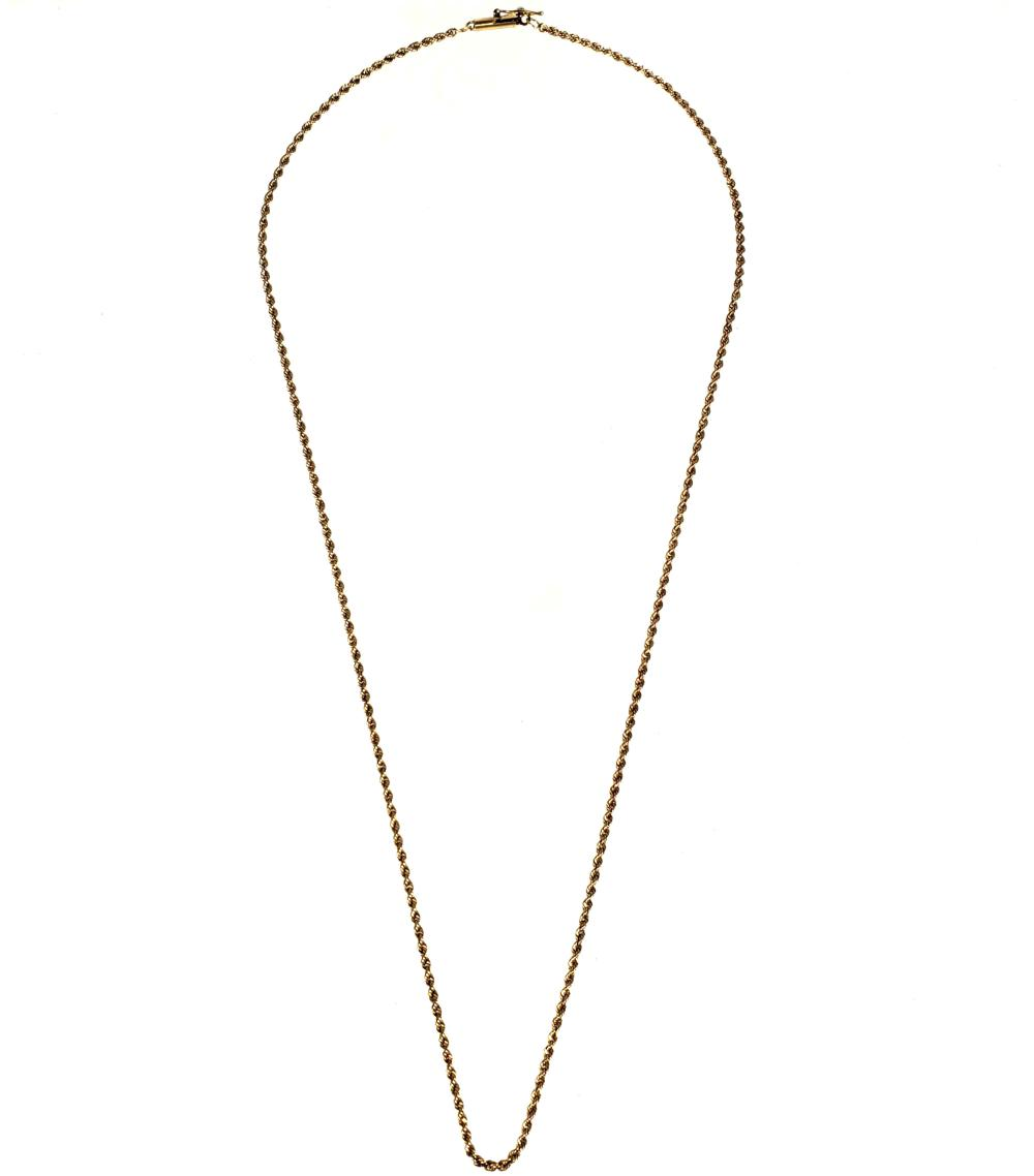 14K Gold Rope Necklace