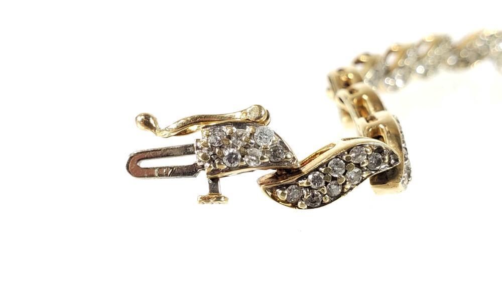 10K Gold & Diamond Bracelet