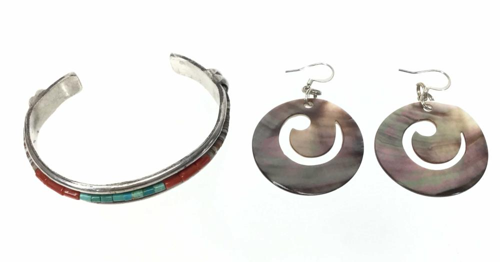 Sterling Silver & Mineral Cuff, Earrings, Necklaces
