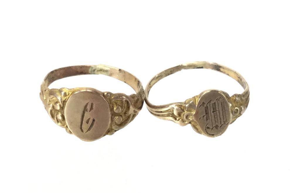 (5) 10K Gold Baby & Child's Rings