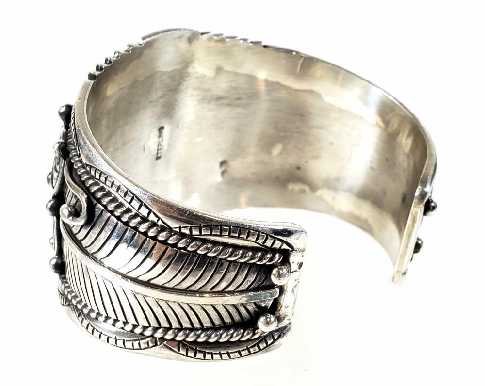 Sterling Silver & Opal Aura Cuff / Bracelet
