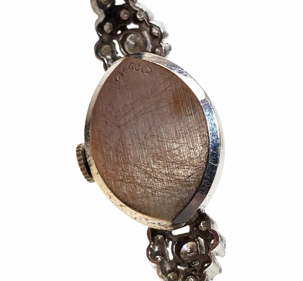Ladies 14K Gold & Diamond Elgin Wrist Watch