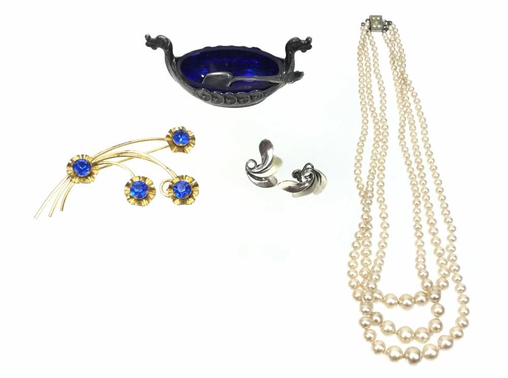 Sterling & Silver Jewelry, Dragon Boat Salt Cellar