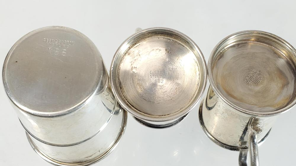 (3pc) Sterling Silver Shot Cup & Mini Tankards