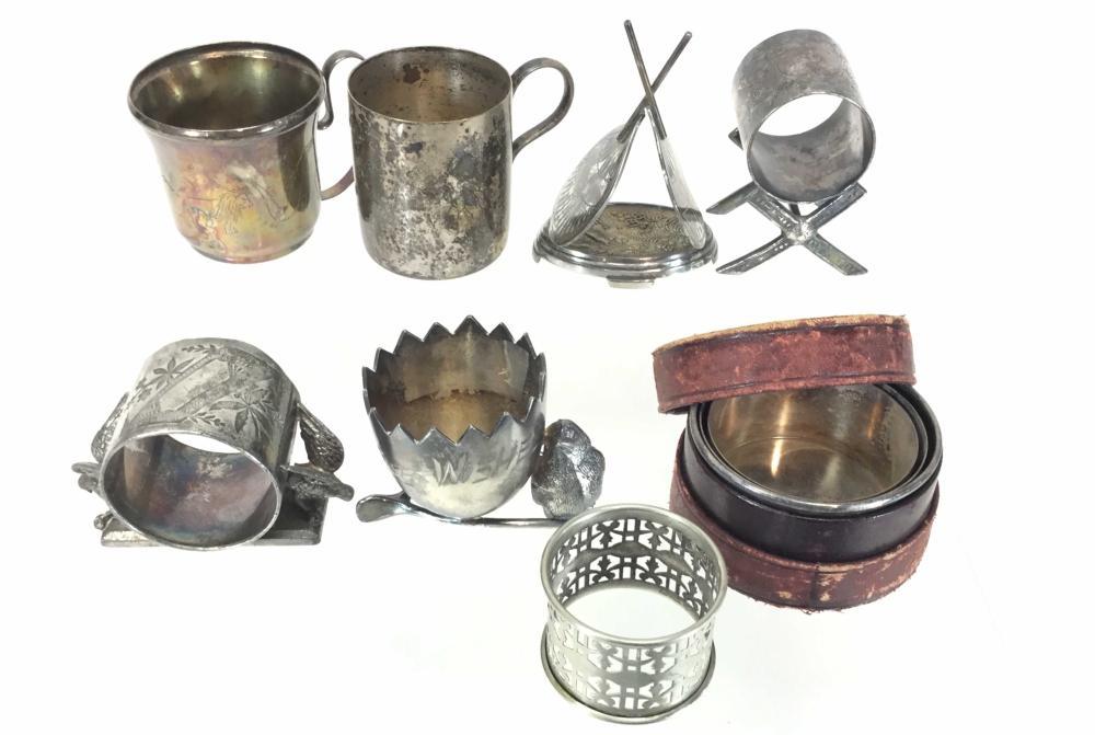 Vintage Silver Plate Napkin & Toothpick Holders