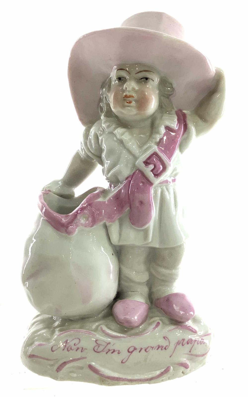 Antique German Pre-1900 Porcelain Toothpick Holder