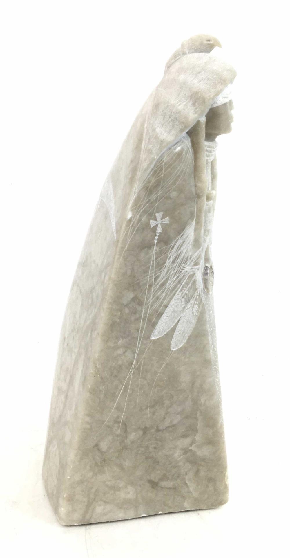 Orlando C. Joe Sr. (b.1958) Alabaster Sculpture