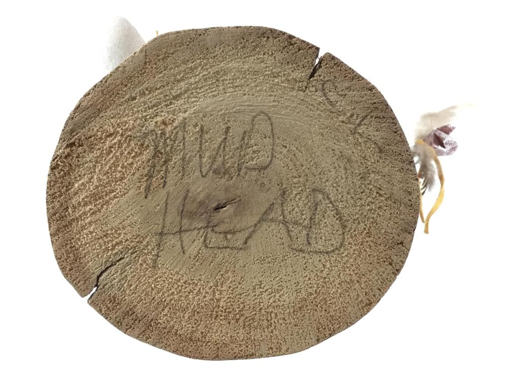"C. L. Signed Native American ""Mud Head"" Kachina"