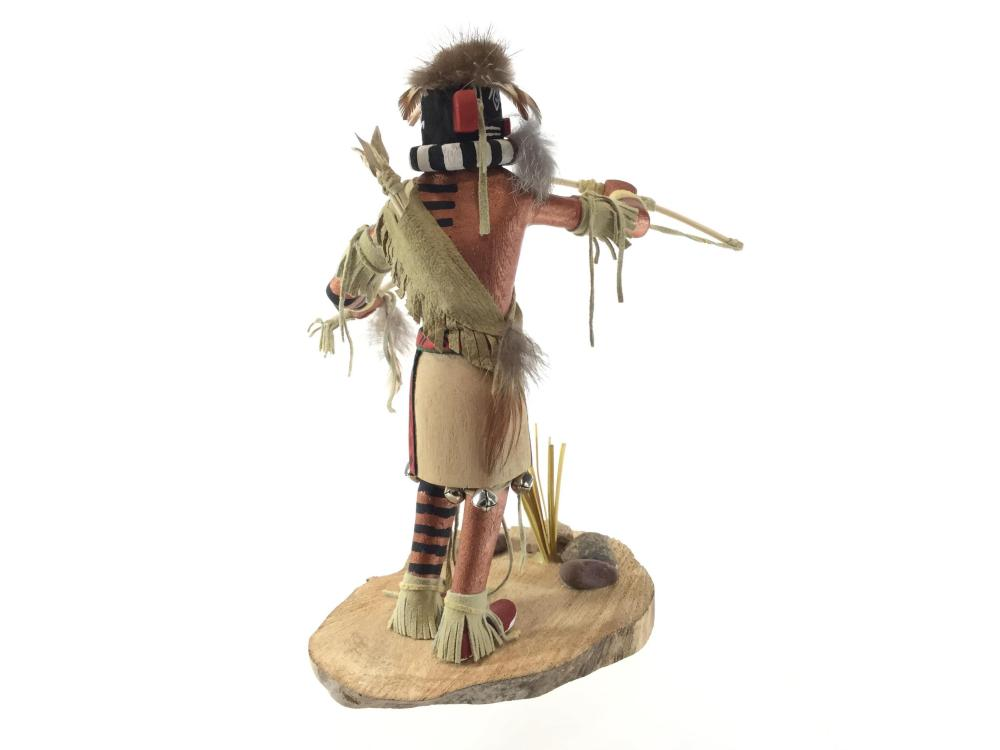 "C. L. Signed Native American ""Left Handed"" Kachina"