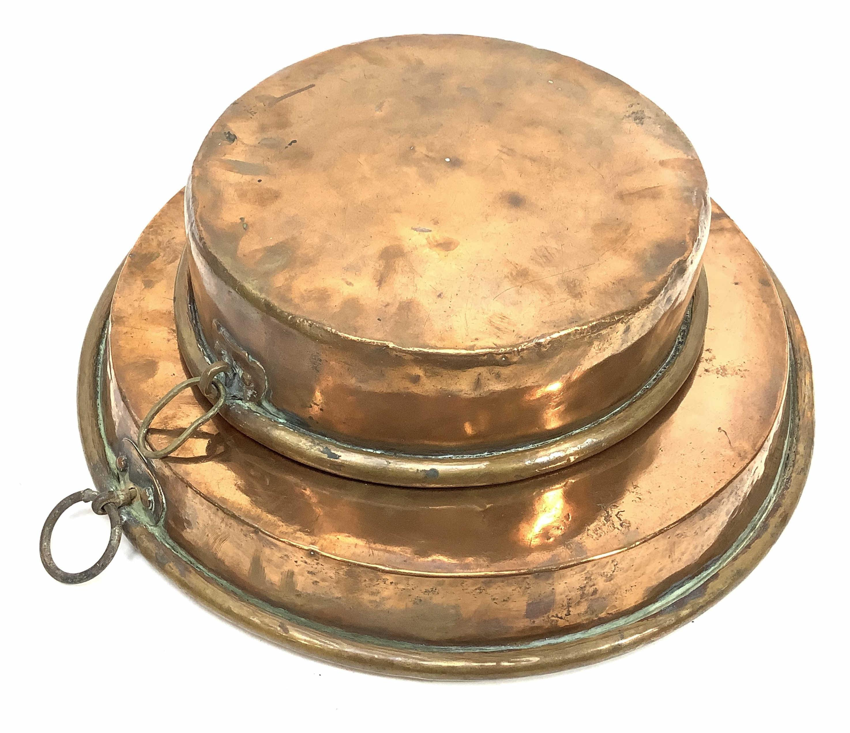 (2pc) 19th C. French Copper Cooking Pans