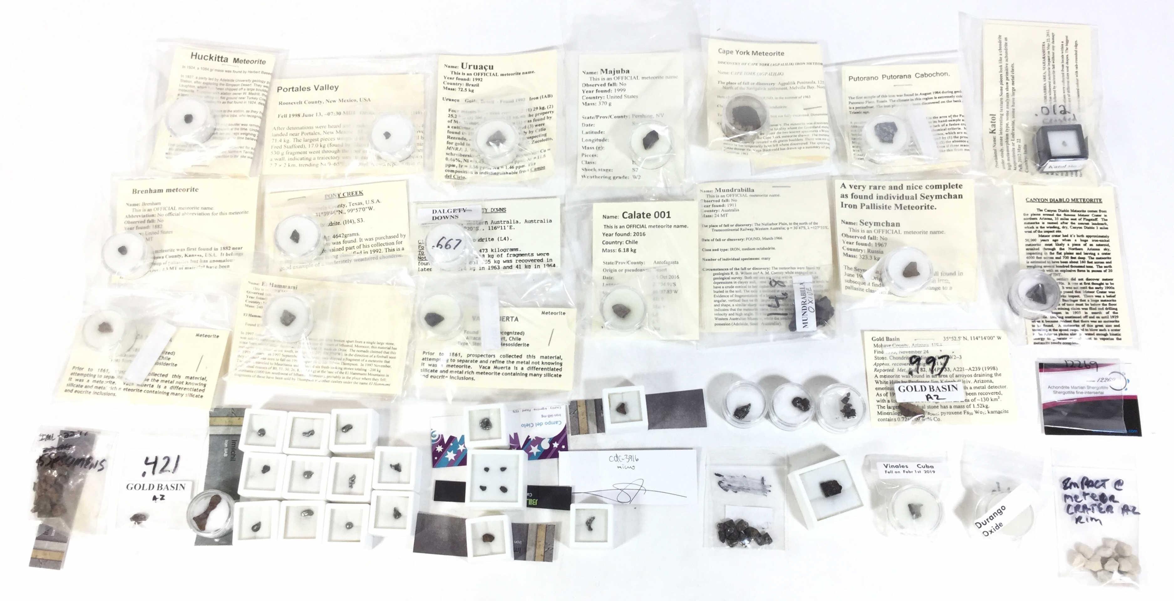 (40+) Assorted Meteorite Specimens