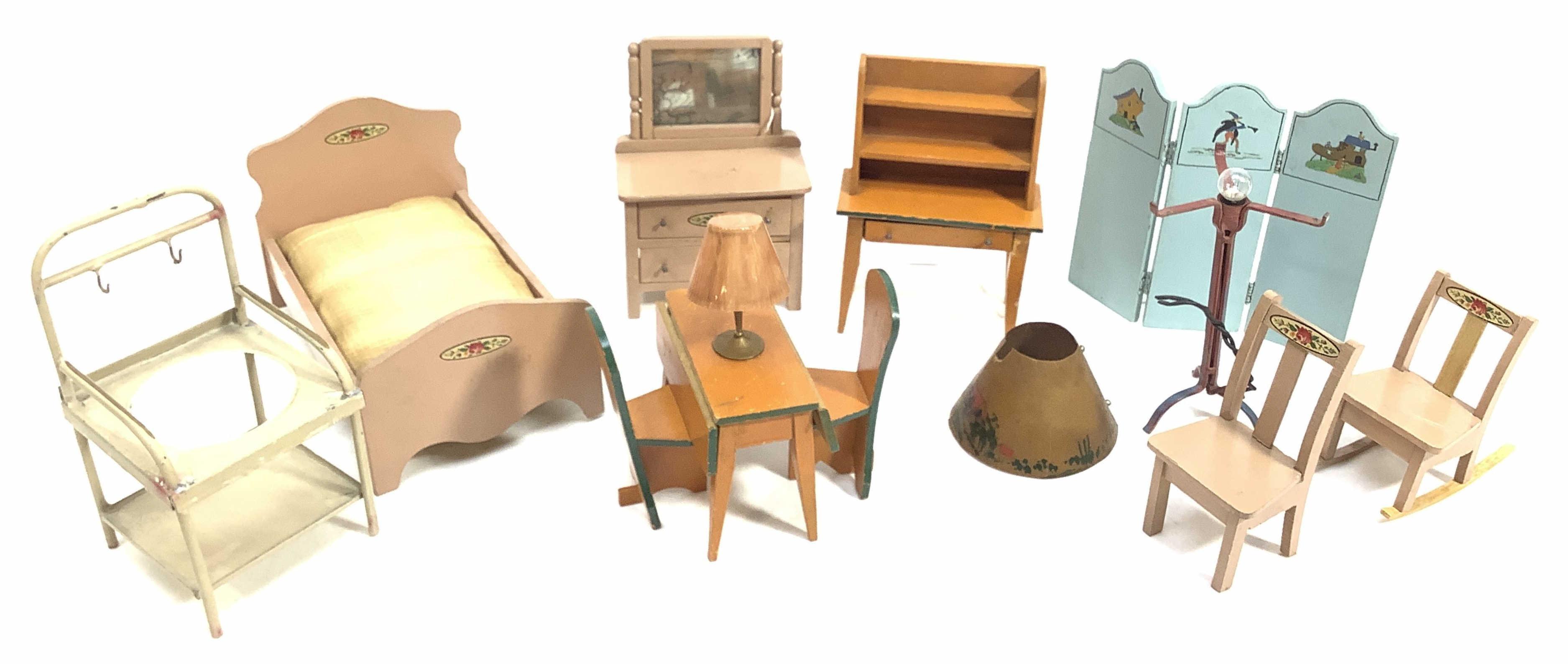 Vintage Wood Doll Furniture