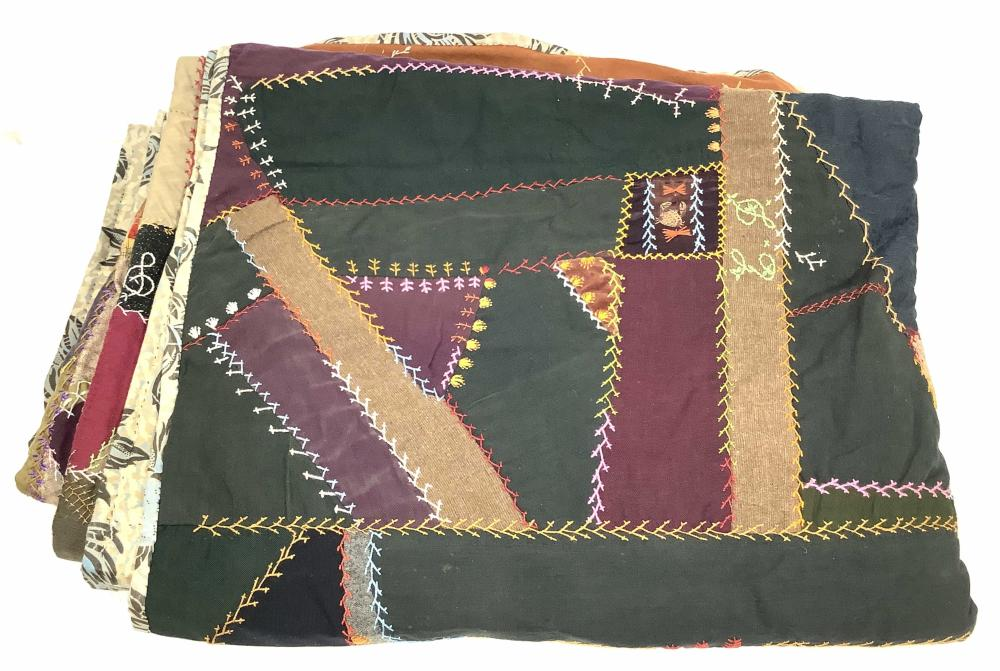 Antique Abstract Patchwork Quilt