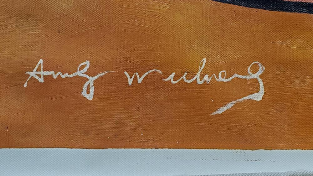 Andy Warhol & Mike Leen Silkscreen On Canvas